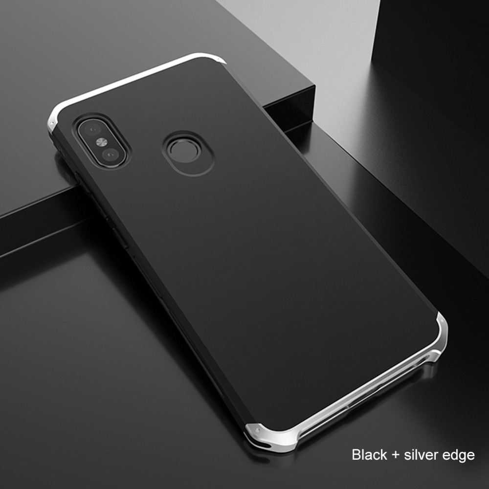 huge selection of 712c9 9b0ee US $9.78 30% OFF|For Xiaomi Redmi Note 7 6 5 Pro Case Luxury Alumnum Metal  bumper Hard PC Screw Cover For Xiaomi Mi 6 8 Note 3 Redmi Note 4X Case-in  ...