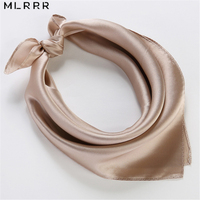 100% Silk Scarf Silk Small Square Solid Scarves for Women for Hairband