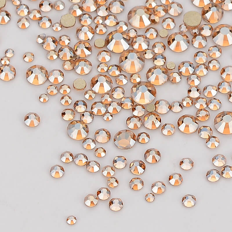 Image 3 - Mix Size Champagne Effects Flat Back Rhinestones For Nail Arts and Crafts-in Rhinestones from Home & Garden