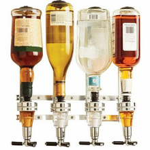 4-Station Wall Mounted Liquor Wine Dispenser Machine Bar Butler Drinking Pourer Home Bar Tool for Birthday Festival Party MJJ88