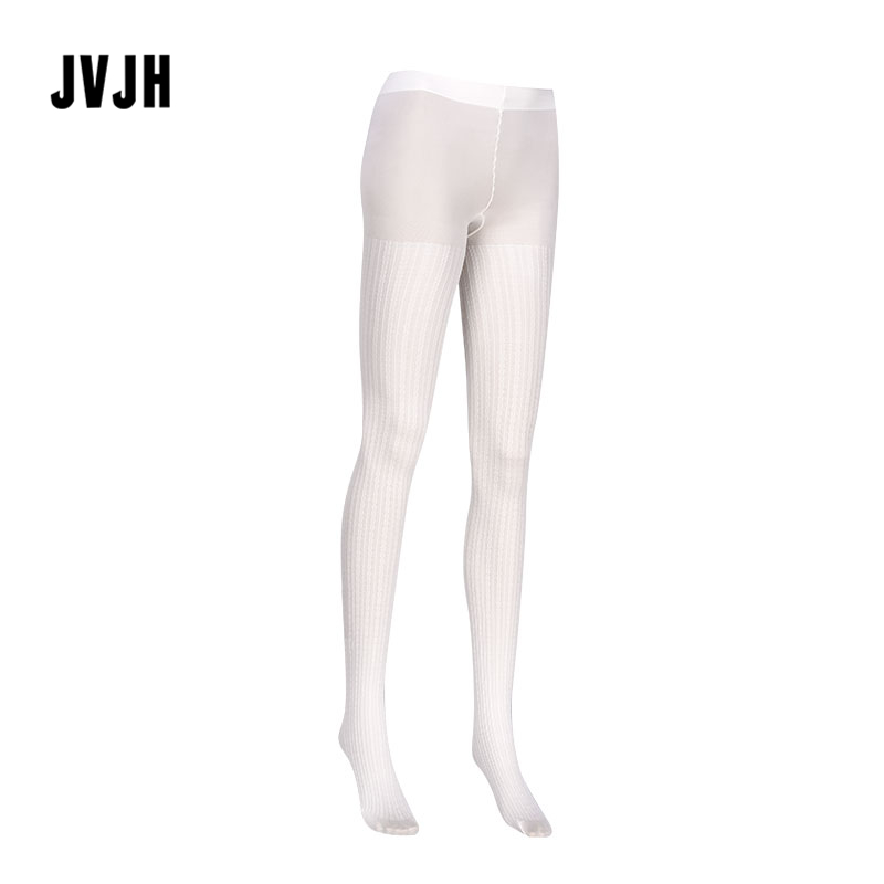 Woman Opaque Panty Hose Patterned Knitted Tights Lady Winter Cable