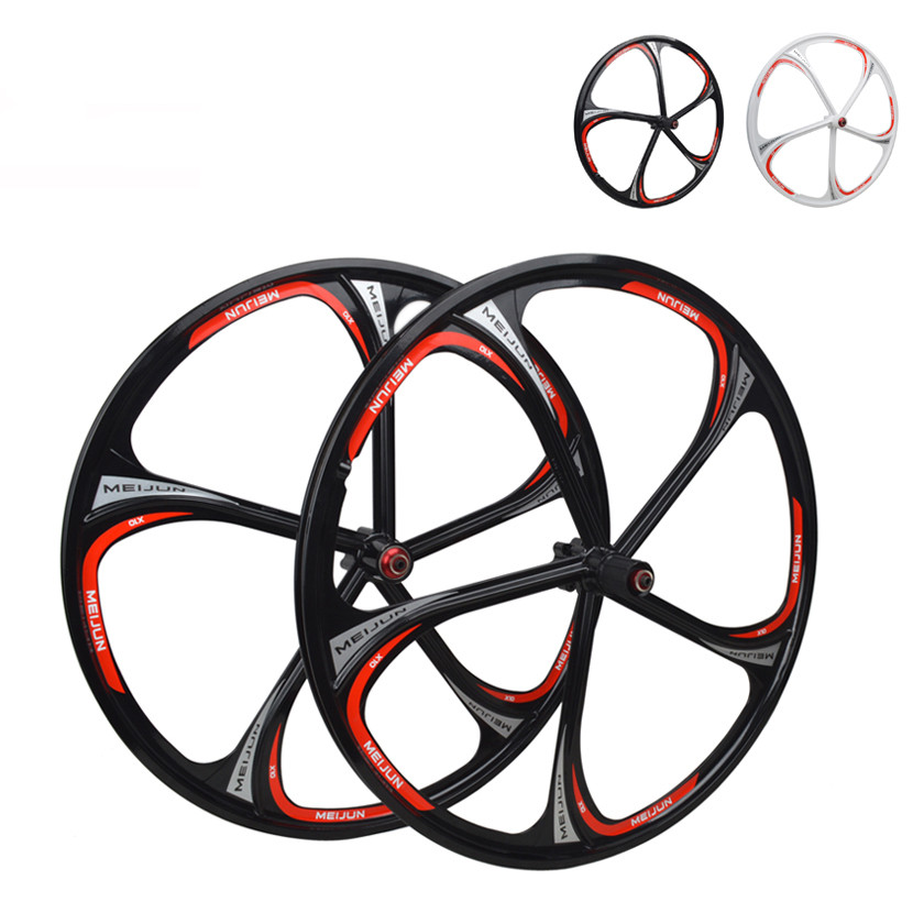 MIEJUN 26 inch Bicycle Wheel mountain bike bearing wheel magnesium alloy Disc Brake wheels 26 32 holes disc brake mountain bike wheel alloy cassette ball hubs wheel suitable for 7 8 9 speed mountain bike accessories