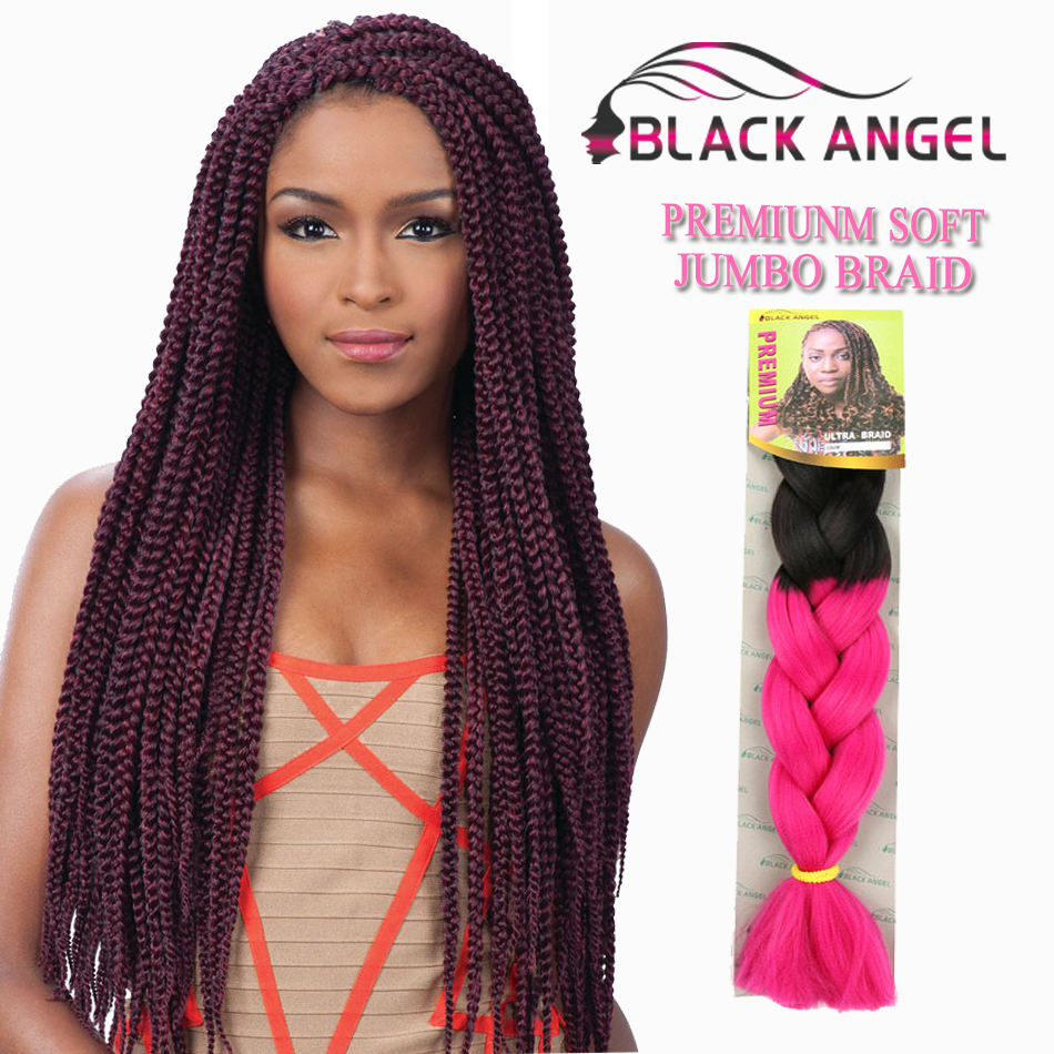 Many Colors Ombre Kanekalon Braiding Hair 24inch 100g Kinky Twist