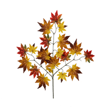 New Christmas Plastic Plant Maple Leaf Branch Leaves Autumn Festival Wedding Party Decoration Crafts HOYVJOY