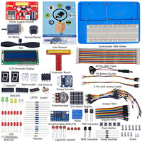 SunFounder Super Starter Learning Kit V3.0 for Raspberry Pi 3 Model B+ 3B, 2B B+ A+ Zero and 123 Page Instructions Book