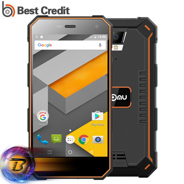 Nomu S10 Mobile Phone 5000mAh 5 Inch Quad Core 2GB RAM 16GB ROM MTK6737T Android 6.0 Smartphone 8.0MP 1280x720 IP68 Waterproof