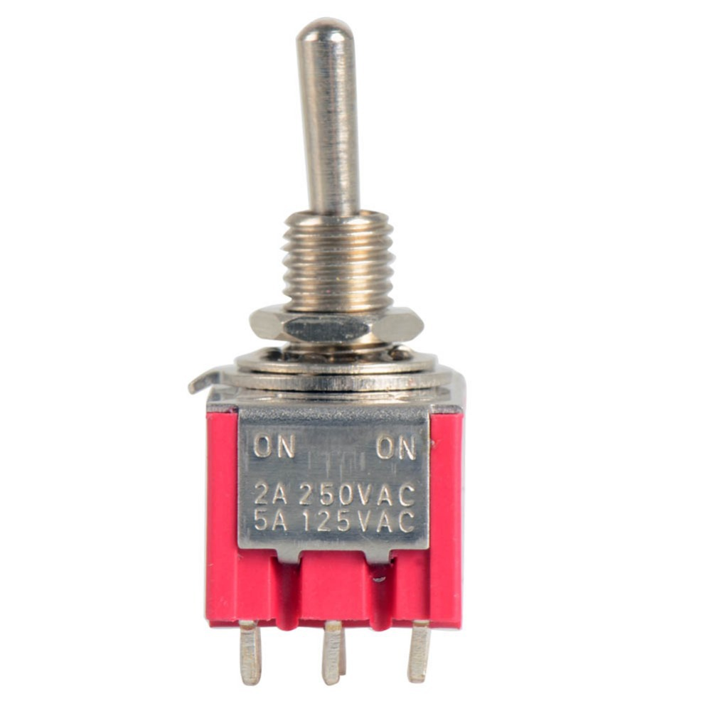 цены 1Pc 12-Pin Mini Toggle Switch 4PDT 2 Position ON-ON 2A 250V/5A 125VAC VE069 P