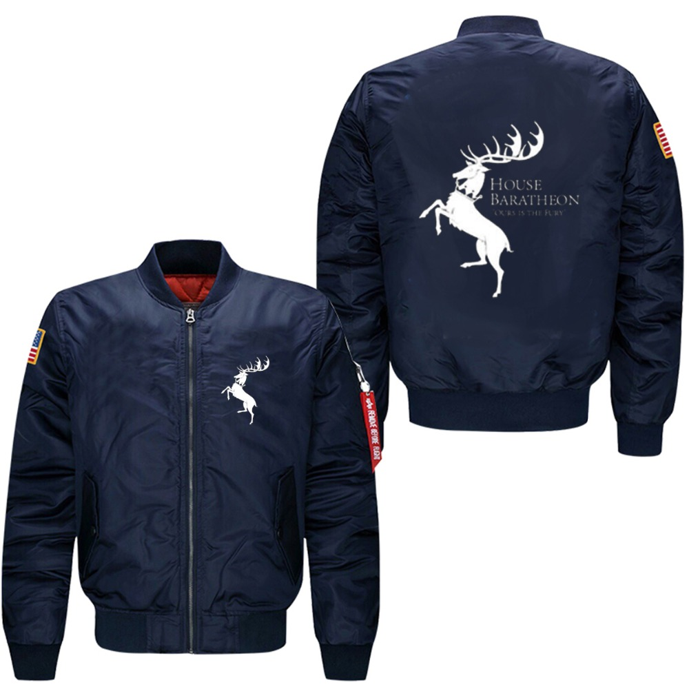 2017 Game of Thrones Fury House Baratheon of Storm's End print flight jacket  male jacket coat USA size