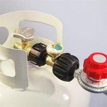 Универсальный Газовый пропан, латунный манометр, бак RV, манометр, индикатор уровня, адаптер, детектор утечки, измерение газа, барбекю