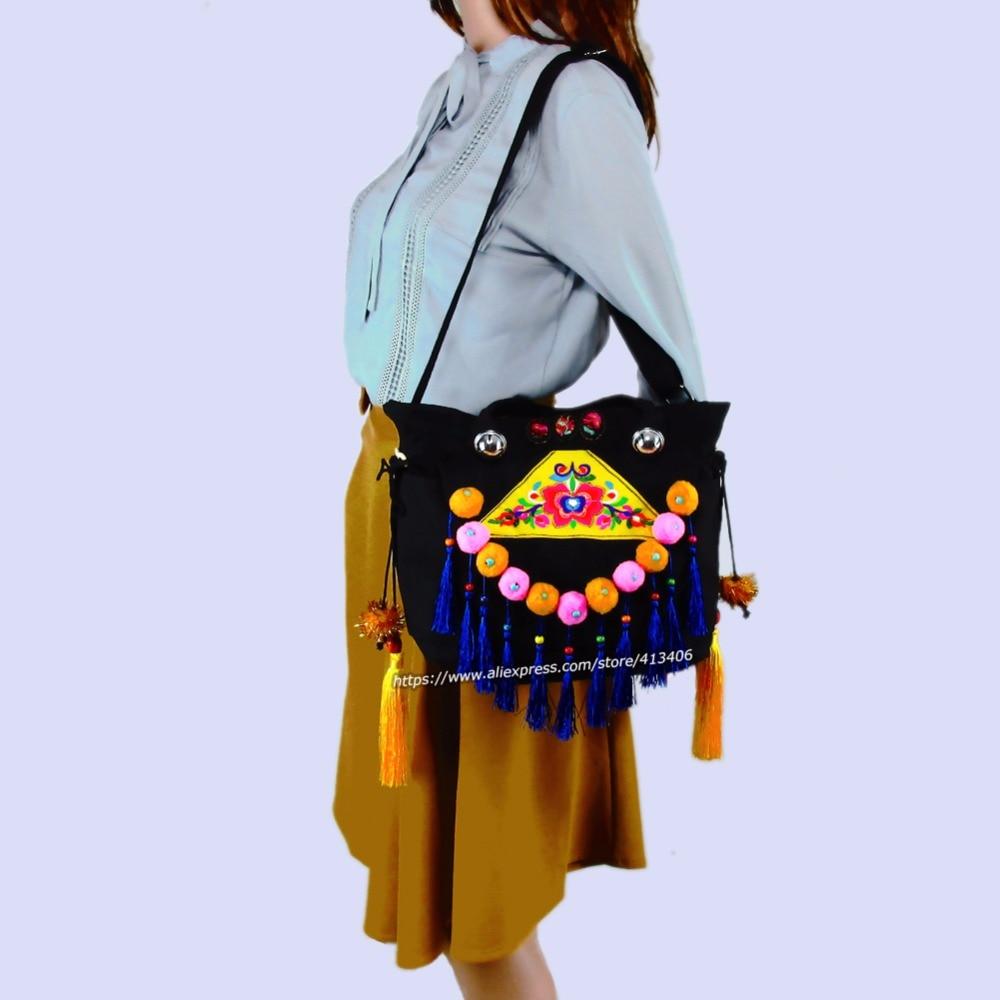 2-Istifadə Vintage Hmong Tribal Etnik Tayland Hindistan Boho çiyin - Çantalar - Fotoqrafiya 2