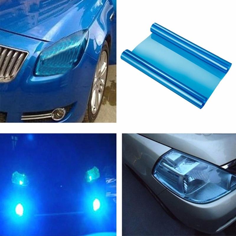 30*60 Cm Car Headlight Tint Sticker Car Stickers  Koplamp Achterlicht Mistlamp Vinyl 3 Layers Filmfiche Auto Products