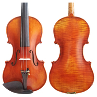 Free Shipping Copy Guarneri del Gesu Pagnini Cannon II 1742 100% Handmade Oil Varnish Violin FPVN03 Foam Case Carbon Fiber Bow