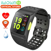 Baru 100% Original iwownfit iwown P1 skrin warna Smart Watch rate jantung ECG pengesanan terbina dalam GPS IPS sukan Smart Watch