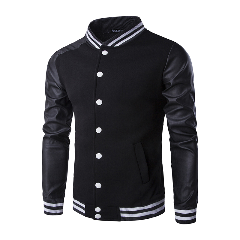 Popular Leather Varsity Jacket Mens-Buy Cheap Leather Varsity ...