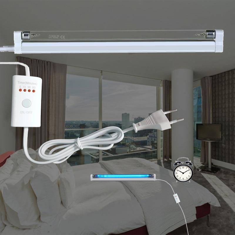 Timer UVC Sterilisator Lampe Keimtötende Licht Uv Ozon Generator Quarz Desinfektion Deodor Rohr Töten Staub Milbe eliminator