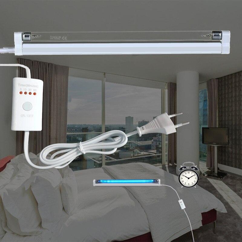 Timer UVC Sterilizer Lamp Germicidal Light Ultraviolet Ozone Generator Quartz Disinfection Deodor Tube Kill Dust Mites 110V 220V