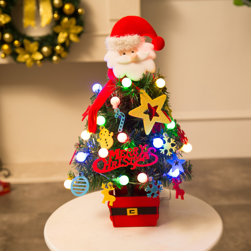 US $17 76 11% OFF|MUQGEW Artificial Flocking Christmas Tree LED Multicolor  Lights Holiday Xmas Window Decorations Xmas Party Garden Decor Promot-in