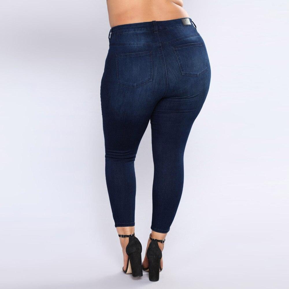 Slim Denim Pantalon Chaude 2019 De Skinny Grande Mode Haute Stretch Taille Tendance Qualité Femmes Nouvelle Déchiré Bleu Jeans xOx7pa