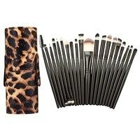 Hot Sell 20Pcs Makeup Brush Set Kits Leopard PU Holder Box For Cosmetic Make Up Set