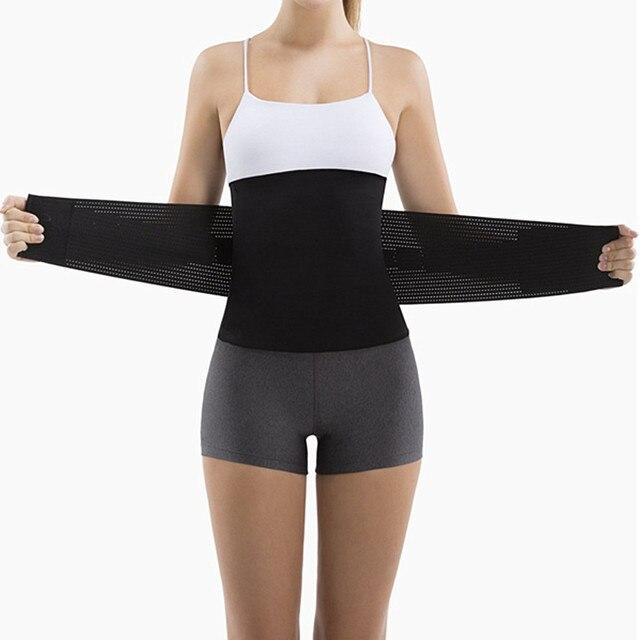 New Plus Size Neoprene Sweat Sauna belt Body Shapers Belt Waist Trainer Slimming Belts Shapewear Weight Loss Waist Shaper Corset 1
