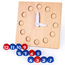 Wood Child Toys Sensorial Clock Time Studying Academic Early Studying Toys For Kids Juguetes Brinquedos MF2044H
