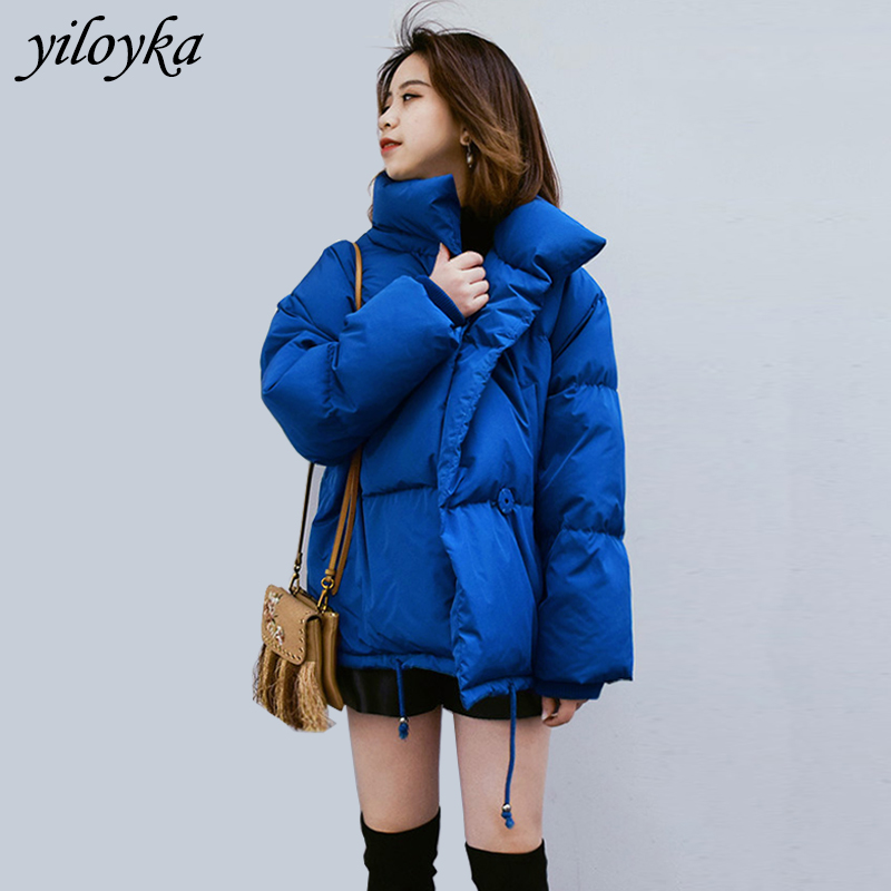 Autumn Winter Jacket Women Coat 2019 Fashion   Parkas   Female Stand Winter Jacket Women   Parka   Warm Loose Casual Overcoat Plus Size