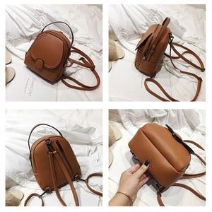 Image 5 - Mochila de couro feminina, nova mochila de couro feminina multifuncional com toque suave