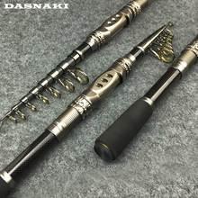 Portable telescopic rod cana de pescar Metal base high Quality guide ring carbon fish rod Anti-seawater corrosion