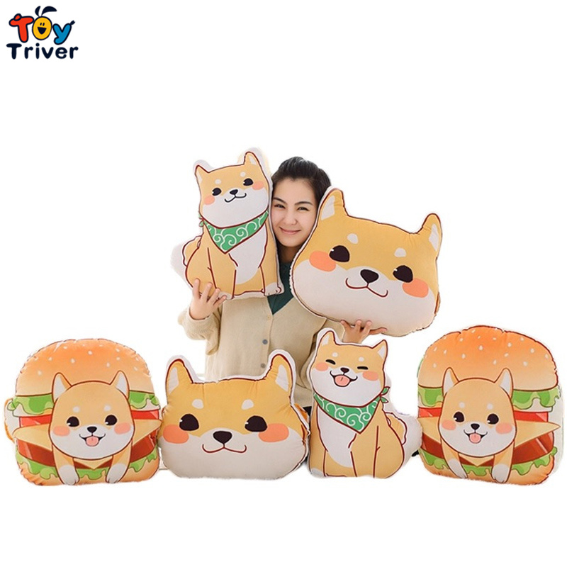 1pc Plush Japan Anime Corgi Pet Shiba Inu Dog Head