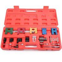 19PCS Universal Car Petrol Engine Twin Timing Cam Timing Locking Tool Setting Flywheel Holding Tool Kit
