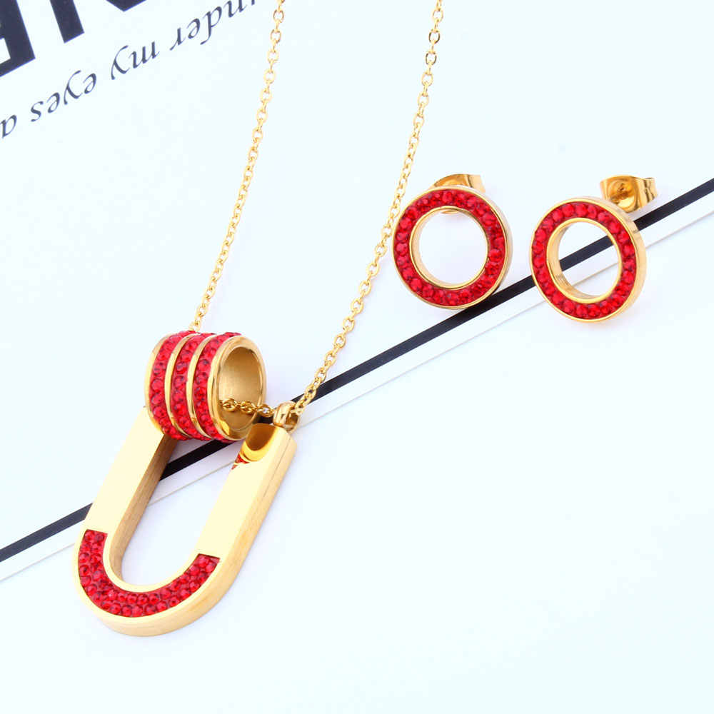 OUFEI Wholesale Jewelry Sets Stainless Steel Jewelry Set For Women Gifts For Women Necklace And Earing Set Women Accessories