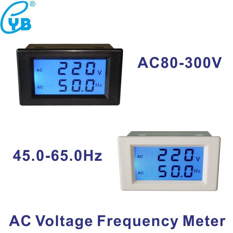 AC voltmeter frequency AC 80-300V// 50Hz//60Hz Digital Dual display voltage meter
