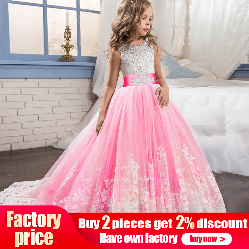High quality   flower     girl     dress   evening wedding pageant ball gown   girls     dress   first communion princess costume ladies vestido