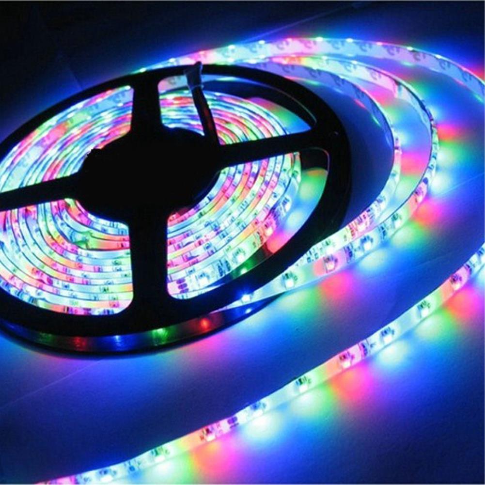 TSLEEN 5m High Quality 60leds/m LED Strip Light, 3528 SMD 12V Flexible LED Tape IP65 waterproof