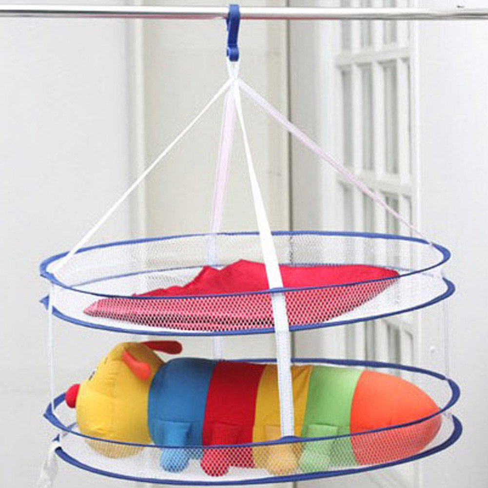 Single/double Layer Windproof Clothesline Laundry Basket Laundry Mesh Net Bag Fragrant Aroma Laundry Supplies Home & Garden