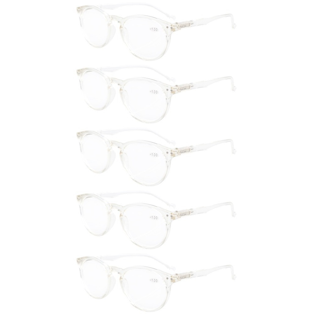 fd92040055 R071 Eyekepper 5-Pack Oval Round Spring Hinges Reading Glasses Includes Sun  Readers +0.00