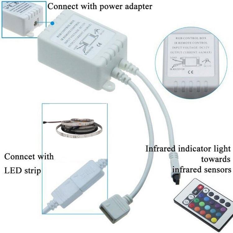 Lâmpadas Led e Tubos led ir controle remoto sem Applicable Lights : Led Strip Led Controller rf 3528