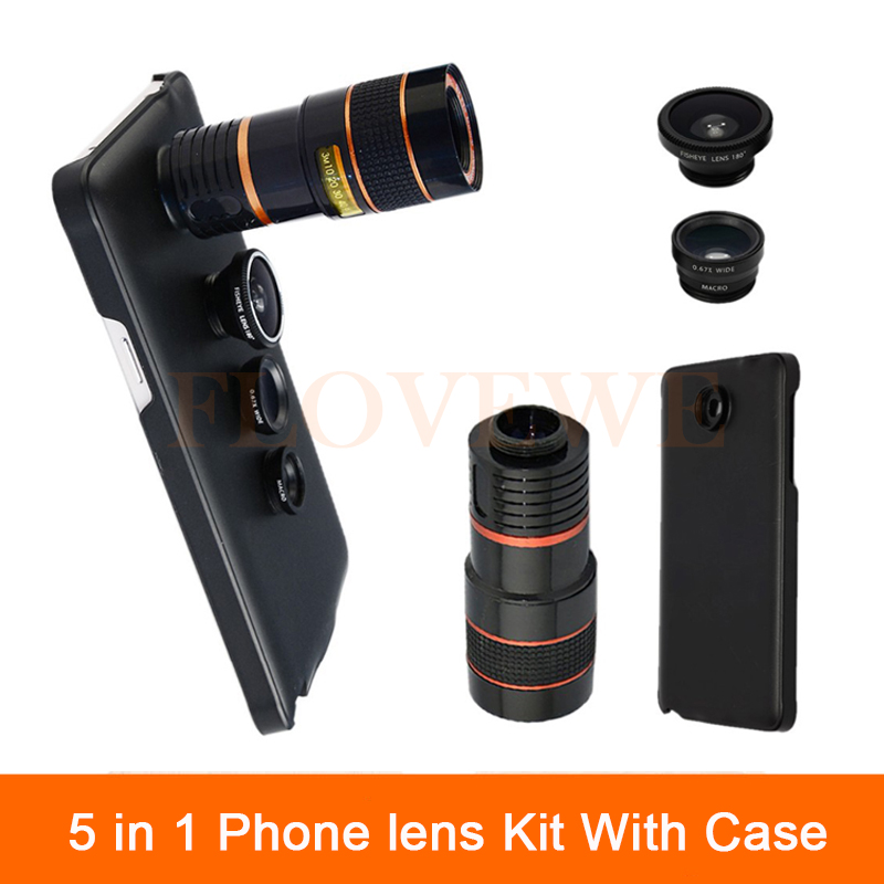 5in1 Camera Lenses For Samsung Galaxy note 2 3 4 5 iPhone 6 6s 7 Cases