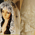 2016 Real Photos White/Ivory Wedding Veil 3M With Comb Lace Beads Mantilla Bridal Veil Wedding Accessories Veu De Noiva