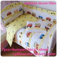 Promotion 6 7PCS Crib Set Bedding Sets Baby Crib Cot Bedding For Girls 120 60 120