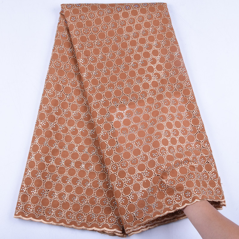 Latest Light Gold Nigeria Lace Fabric 2019 High Quality Swiss Voile Lace In Switzerland African Cotton