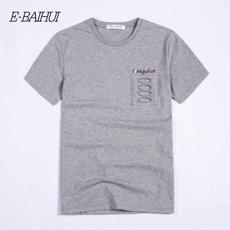 E-BAIHUI brand 2019 new fashion Cotton tee shirt men Clothing short sleeve man t shirt Male Casual T-shirts  Swag tops tees T029