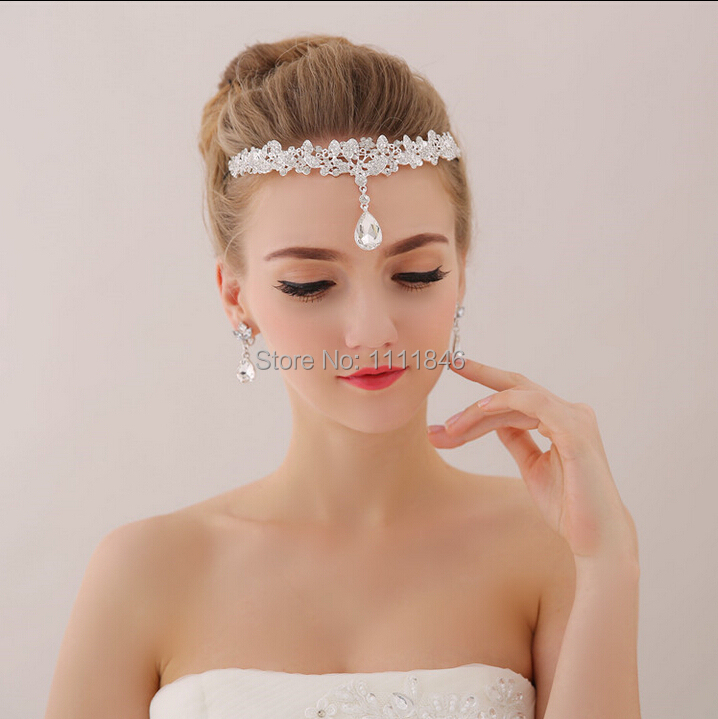 High End Crystals Bridal Headdress Frontlet Forehead