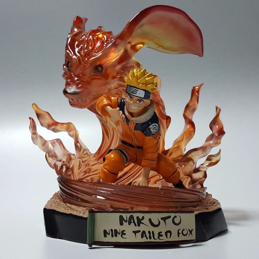 Naruto Action Figures Kyuubi Resin 230mm Collectible Model Toy Anime Naruto Shippuden Uzumaki Naruto Kyuubi Modo naruto action figures pvc 260mm collectible model toy anime movie naruto shippuden action figure uzumaki naruto 3 style