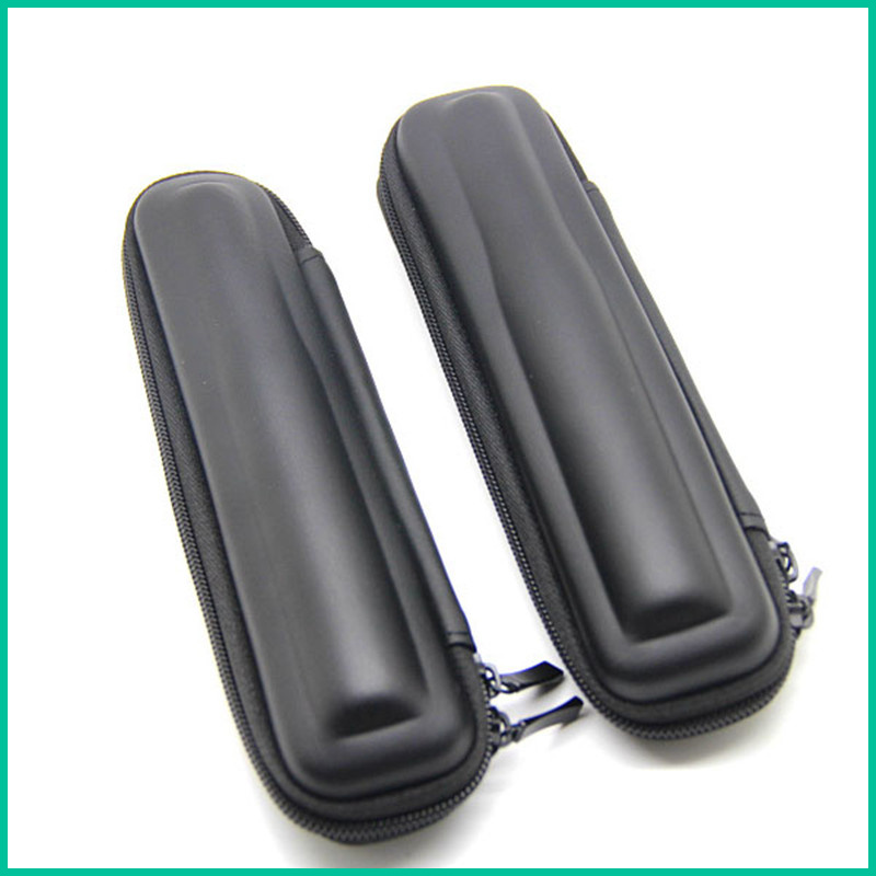 E-XY New Arrival Black Mini Slim Case Small eGo Leather Zipper Carry Bag Zipper Case eletronico,electronic cigarette case