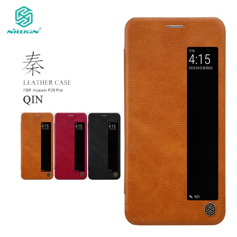 Huawei P20 Pro Cover Case Nillkin Qin Series PU Leather Flip Case for Huawei P20 Pro Cover