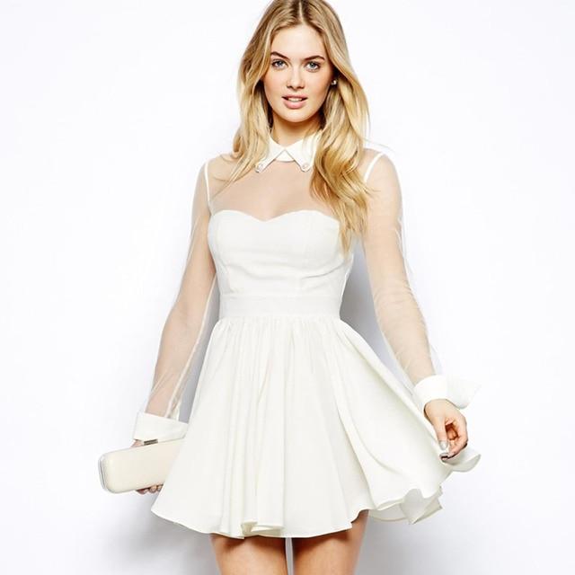 Plus Size White Skater Dress