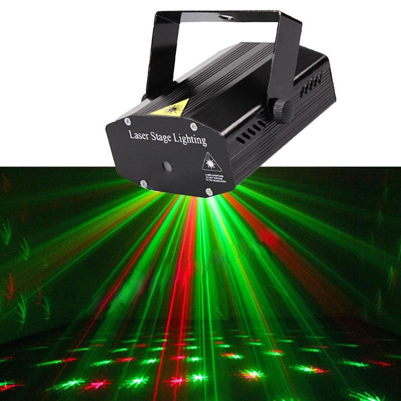 DIU# Wonderful R&G Red Green Laser Projector Stage Light Home Party Lighs DJ Disco Night Club Lighting US plug diu wonderful r
