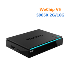 Original WeChip V5 Kodi 16.1 Android 6.0 TV BOX Amlogic S905X quad-core 2GB/16GB 2G+5G Wifi BT4.0 HD Media Player PK T95N
