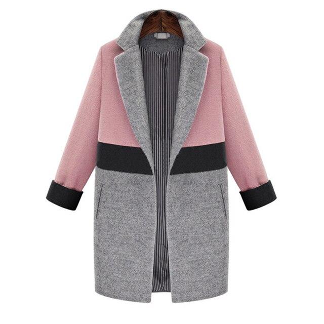 9d7711359d173 2016 New Fashion Women s Long Elegant Woolen Coat Winter Womens Thick Coat  Jacket Medium Long Female